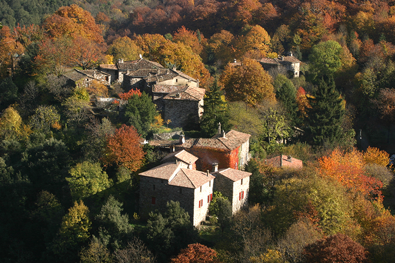 village d'autommne vallée de st A de Valborgne